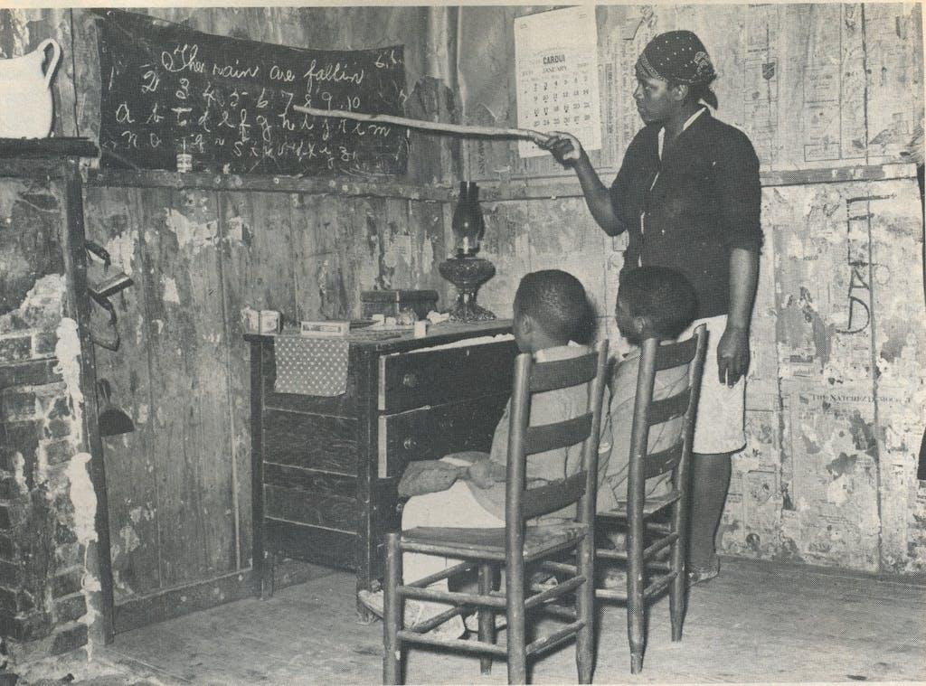 Instruction at home, Transylvania, Louisiana, 1939