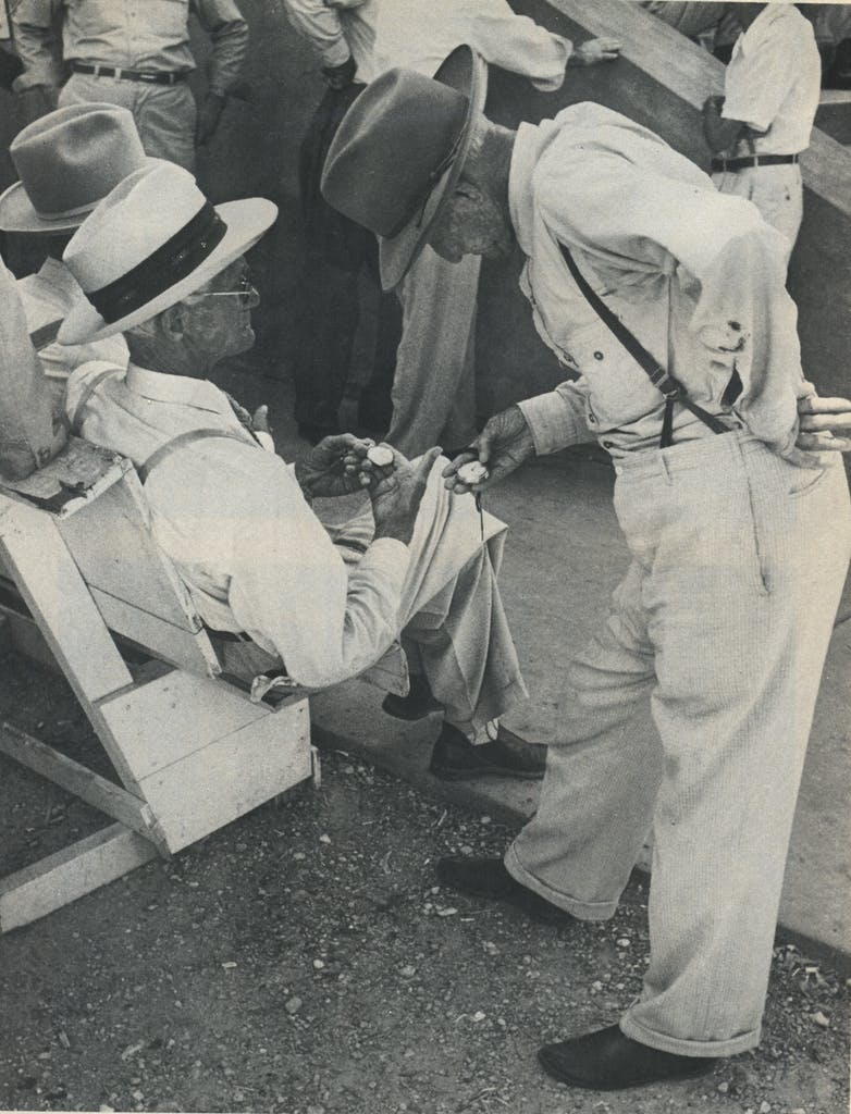 Men at a political rally, McKinney, Texas, 1954