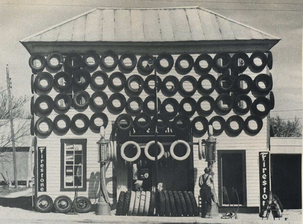 Second-hand tires displayed for sale