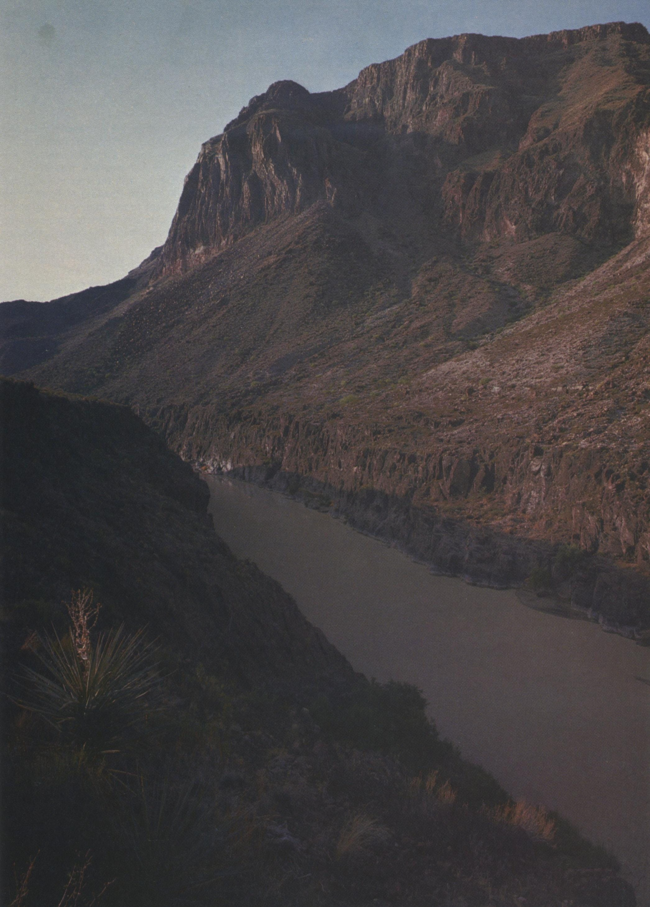 For centuries the Colorado Canyon remained uncharted by explorers. Here the Rio Grande has to carve a course to the sea.