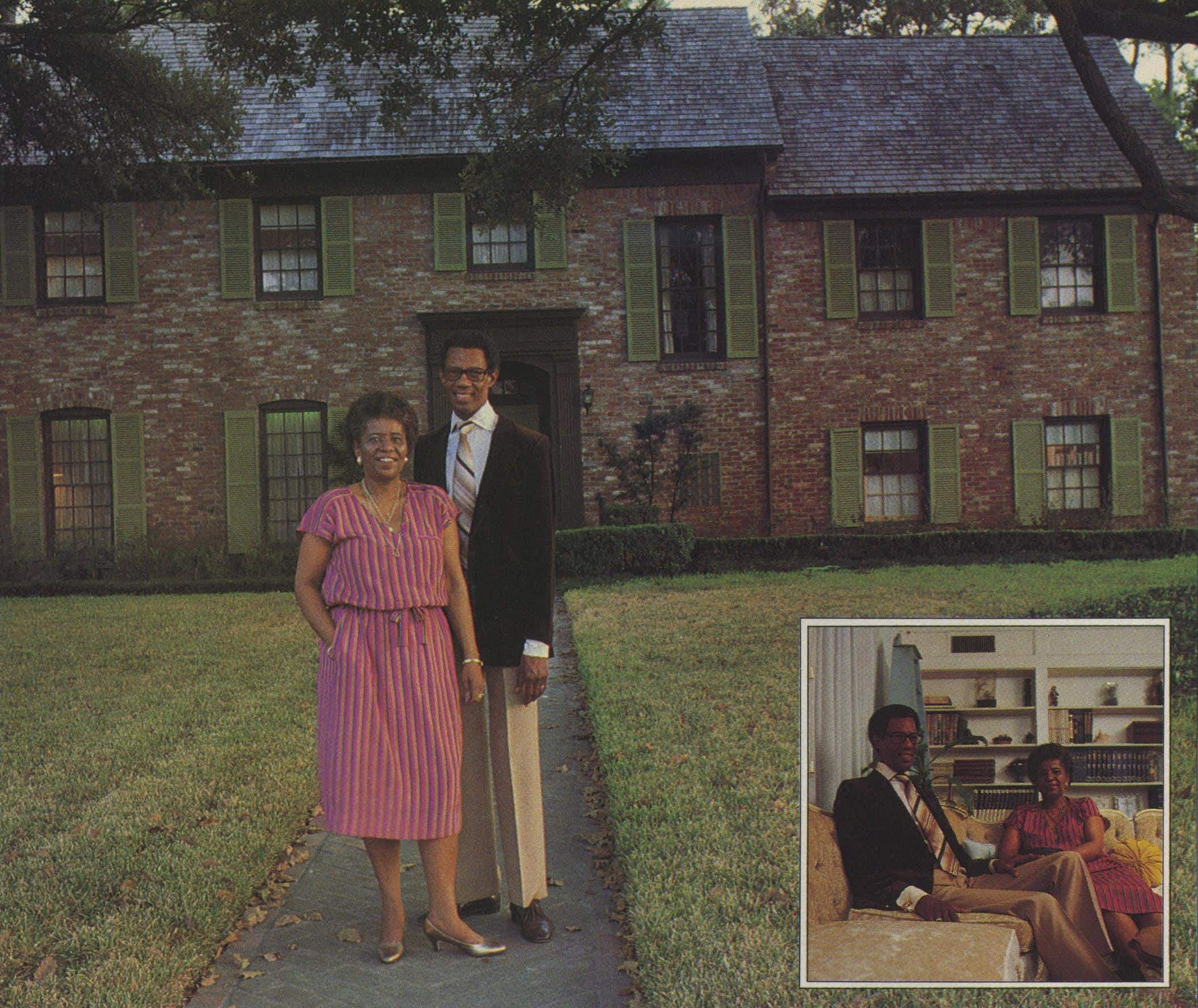 The Reverend William Lawson, pastor of the Wheeler Avenue Baptist Church, and his wife, Audrey, live here on South MacGregor.
