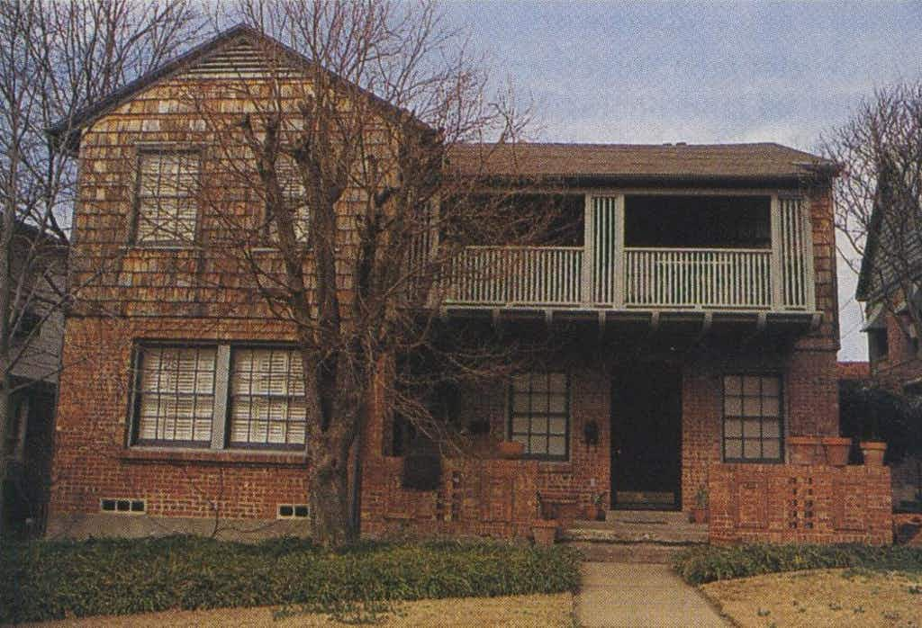 For six years, the author shared this duplex with the Lyons.