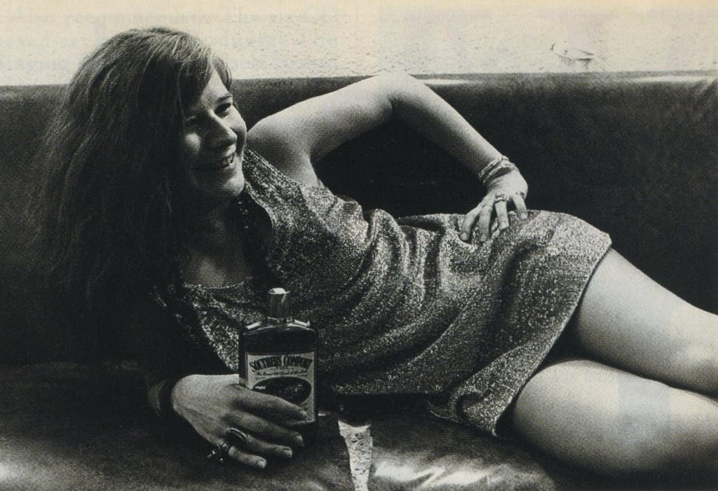 How fluid was Joplin mood? One minute she was happy (backstage at Winterland, 1968)...