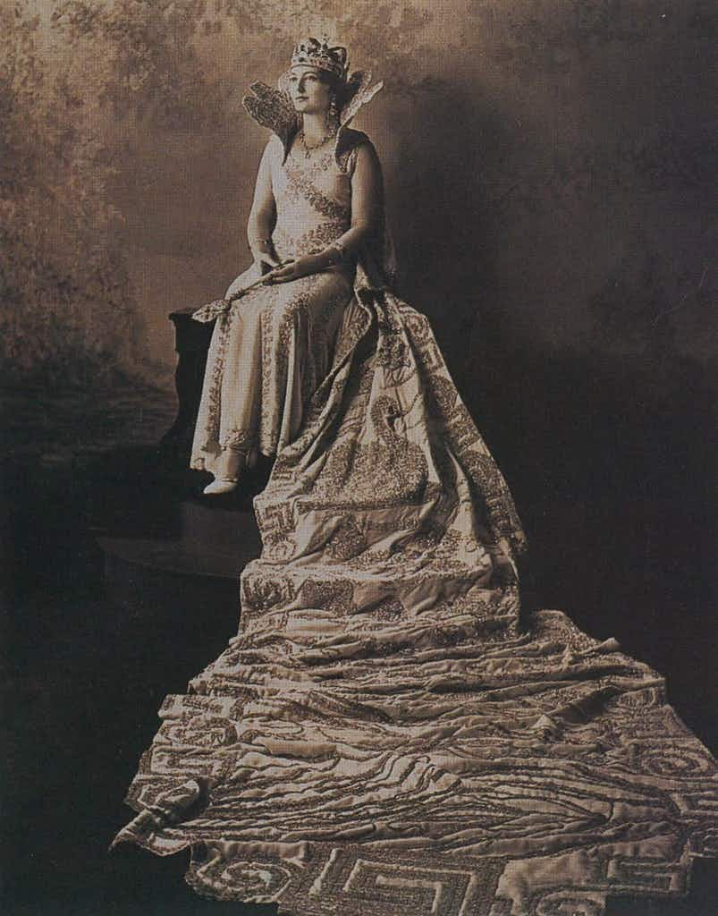 Her Gracious Majesty, Dorothy of the House of Thomson, Queen of the Gods and of the Court of Olympus, 1931
