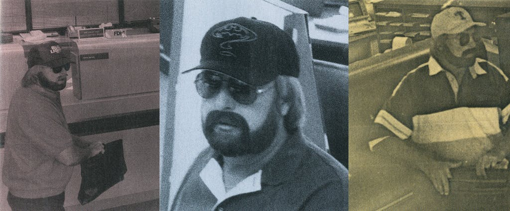 William Guess committing more bank robberies in 1993, 1995, and 1996.
