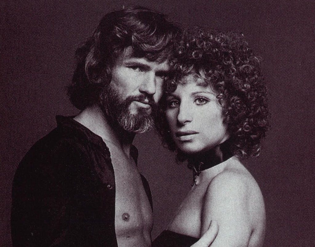 Kristofferson at the the top in 1976, starring with Barbara Streisand in A Star is Born.