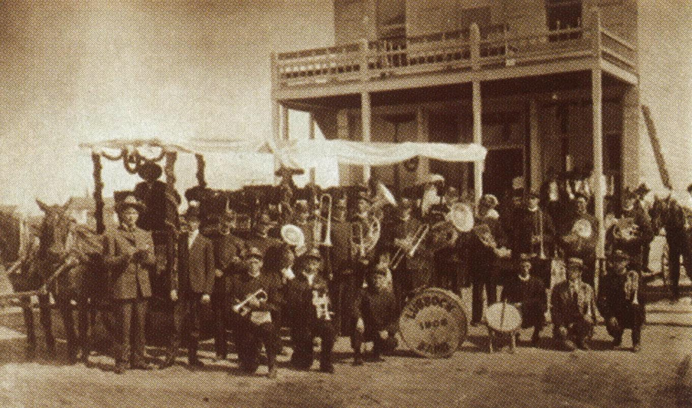 1906: The Lubbock Municipal Band at the city's Fourth of July celebration.