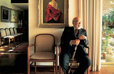 Merchant Prince: The erudite retailer at his Dallas home in 1992.