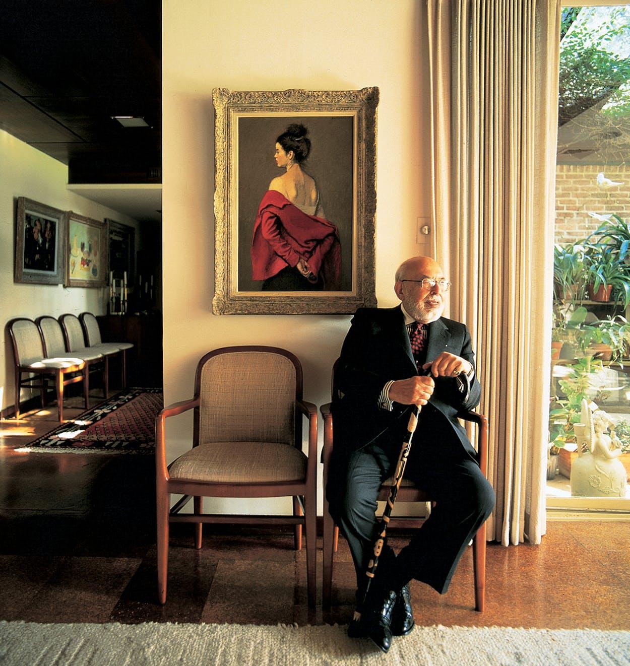 Merchant Prince: The erudite retailer at his Dallas home in 1992.