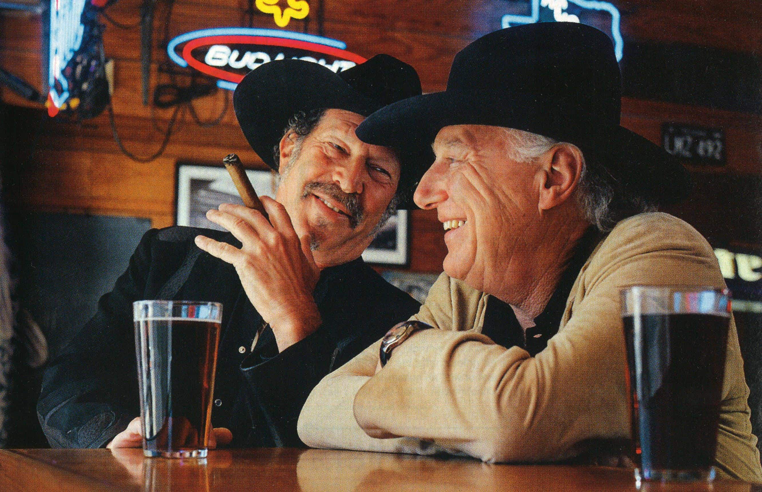 The author and Jerry Jeff, photographed at the Shoal Creek Saloon, in Austin, on November 24, 2003.