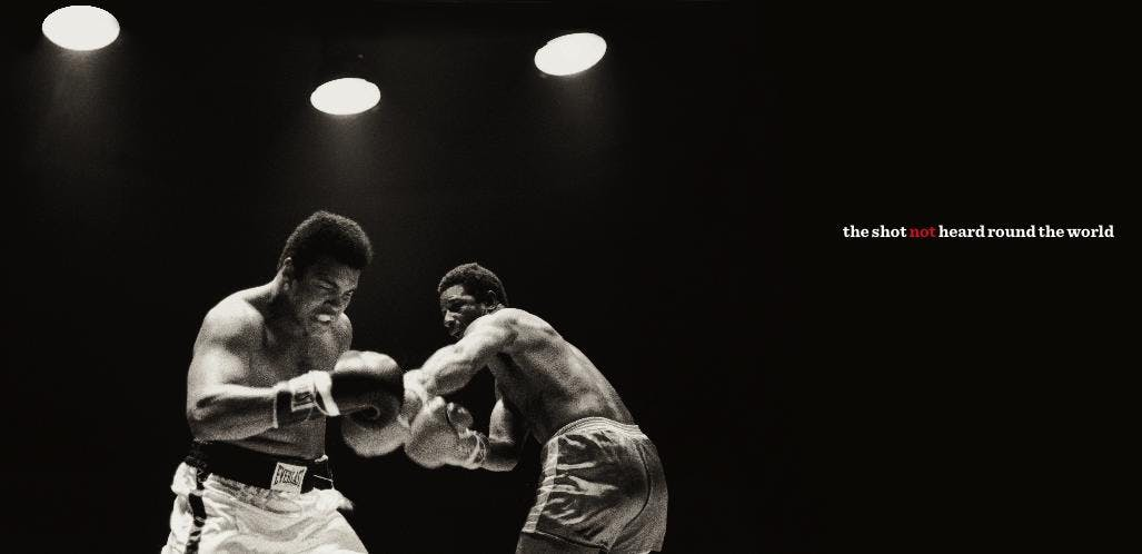 Henderson puts the hurt on Ali in October 1972.