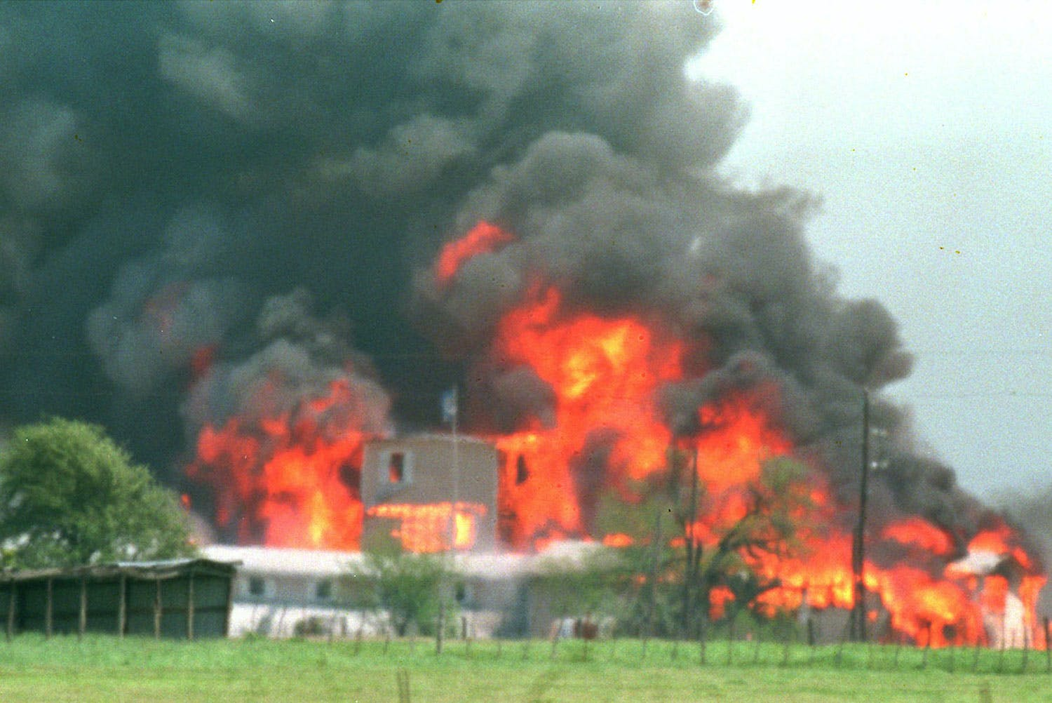 Branch Davidian Compound Flames