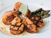 Spicy Grilled Shrimp and Scallops With Margarita Butter