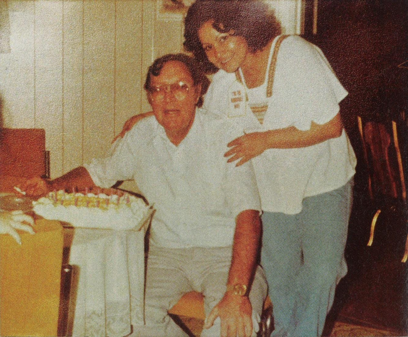 Haley and Martha celebrate their wedding in Harlingen in 1980.