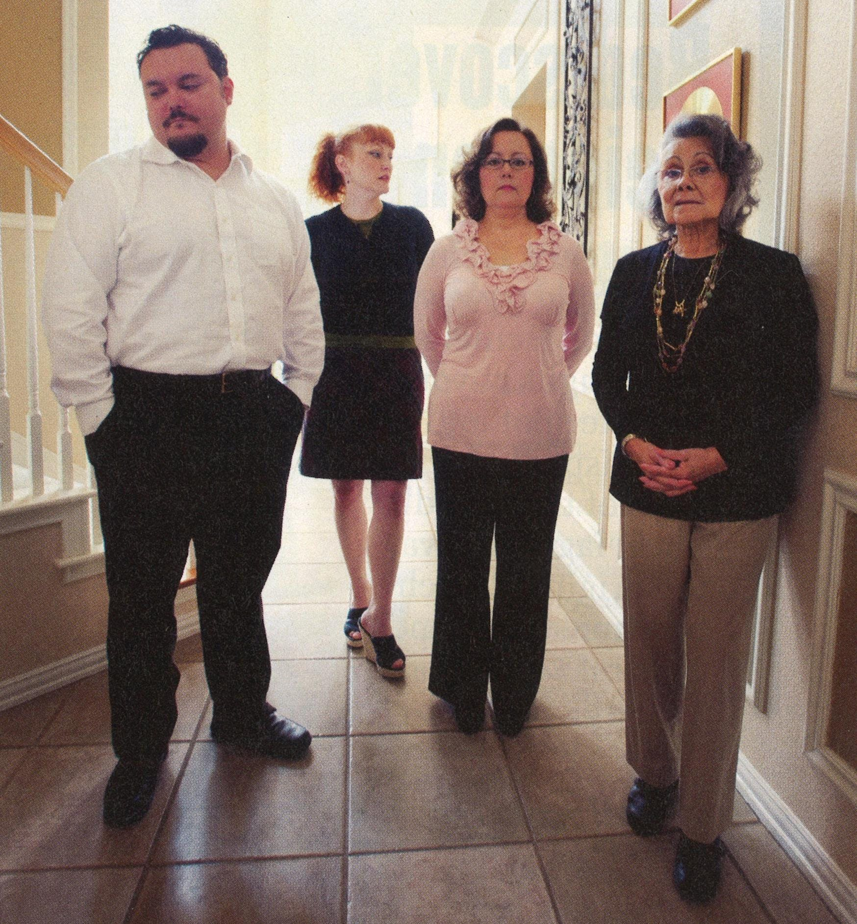 Pedro, Georgina, Martha Maria, and Martha Haley, in Martha's house in McKinney on March 5, 2011.