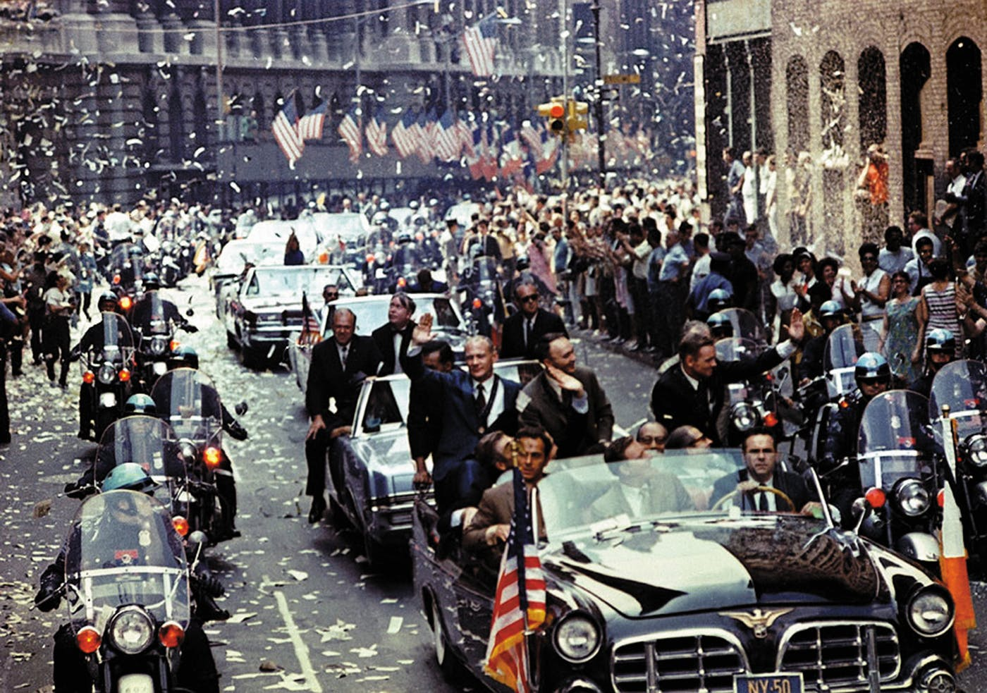 Back home, the Apollo crew was feted with a ticker tape parade in New York City on August 13, 1969.