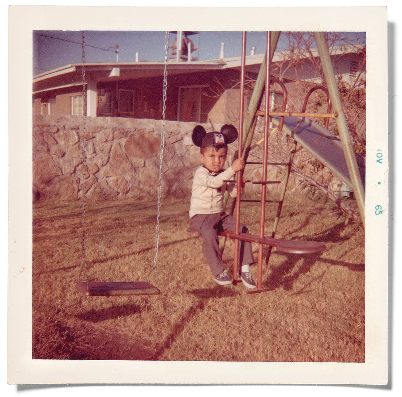 The author playing on his swing set in El Paso in 1965.