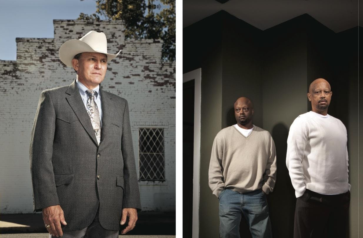 Left: Otto Hanak, who helped interview more than sixty people about Graves's case. Right: Alan (left) and Keith Davis, the surviving sons of Bobbie Davis. Keith lost his two daughters on the night of August 18, 1992.
