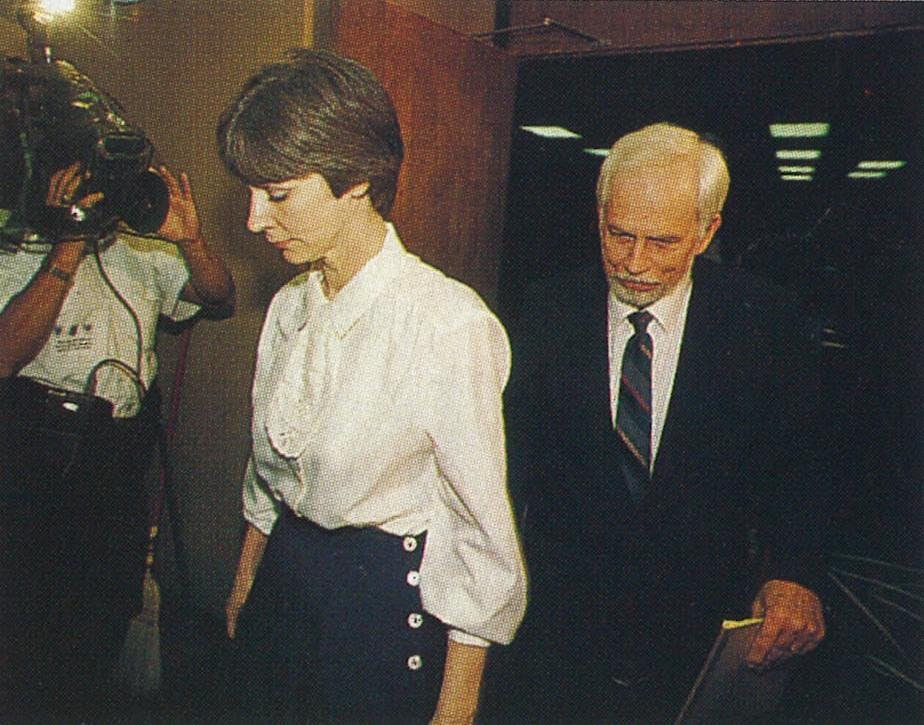 "Fran and Dan Keller leaving the courtroom in 1992. ""They painted us as monsters,"" Fran said."