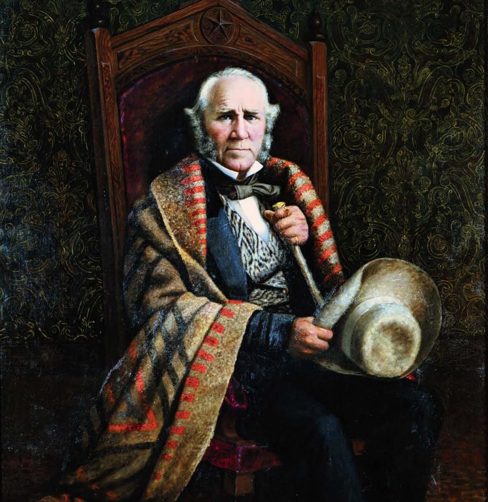 William Henry Huddle's portrait of Sam Houston, one of two depicting the first president of the Republic.