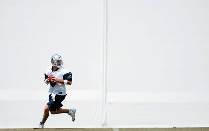 Romo at practice at Valley Ranch.