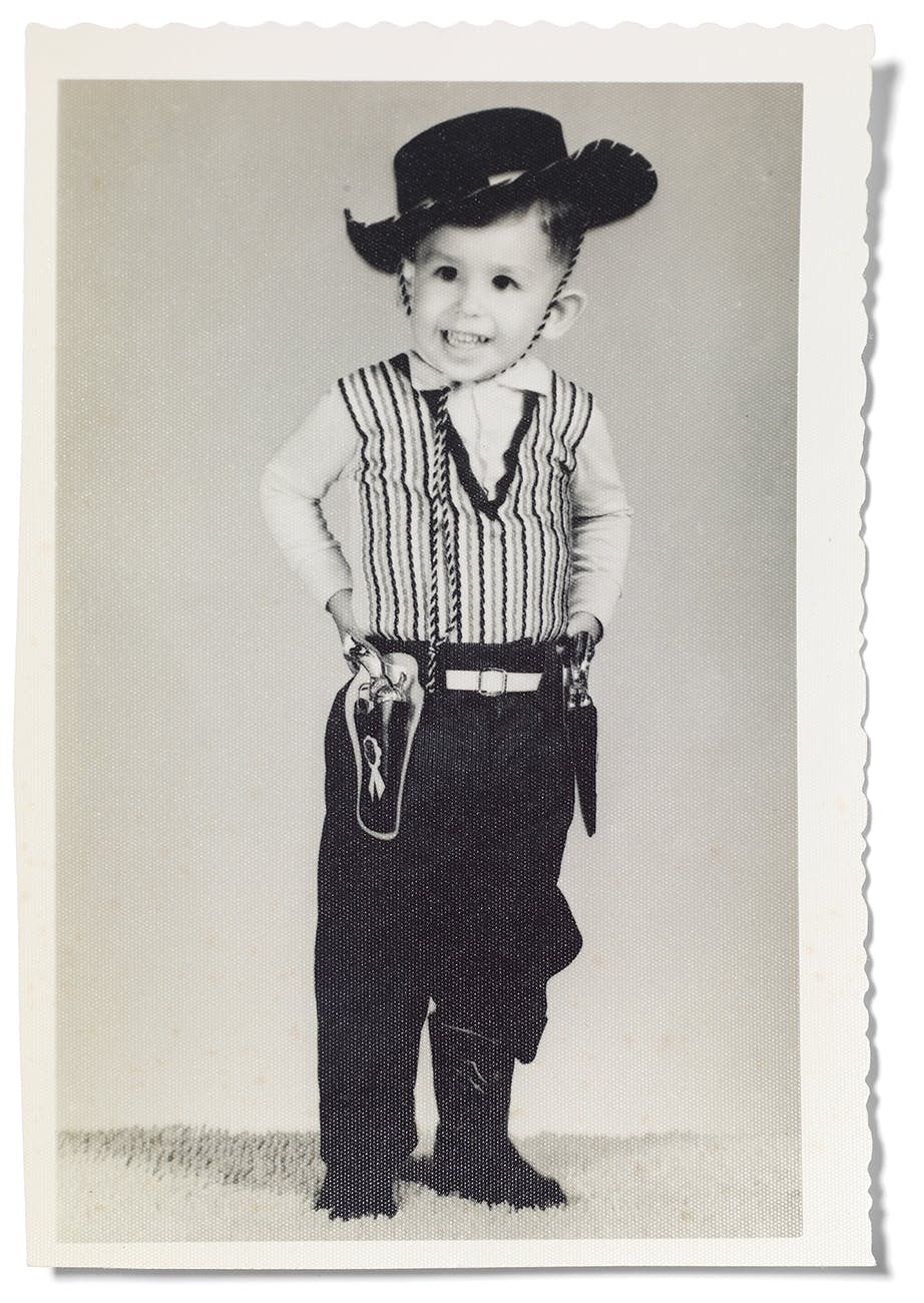 The author as a young vaquero in 1962.