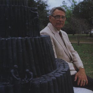 Emeritus Engineering professor Hirsch has long been a critic of the layered wedding-cake design, which is portrayed in a campus statue.