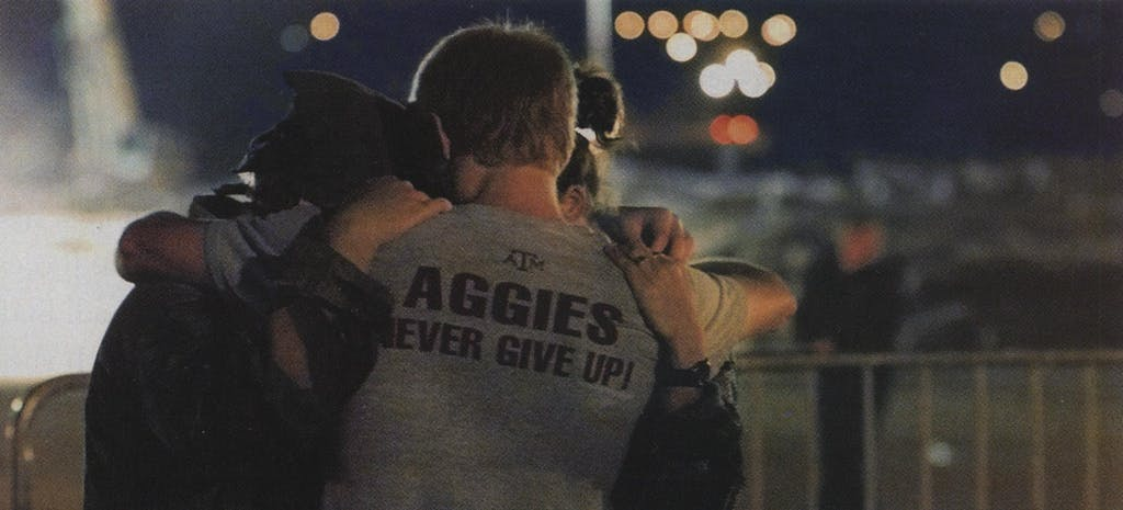 Students mourn the loss of their fellow Aggies.