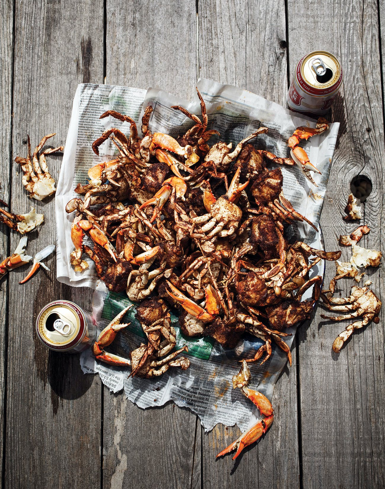 Barbecued crabs