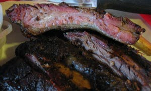 Riscky's Stockyards beef ribs
