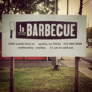 la Barbecue new sign