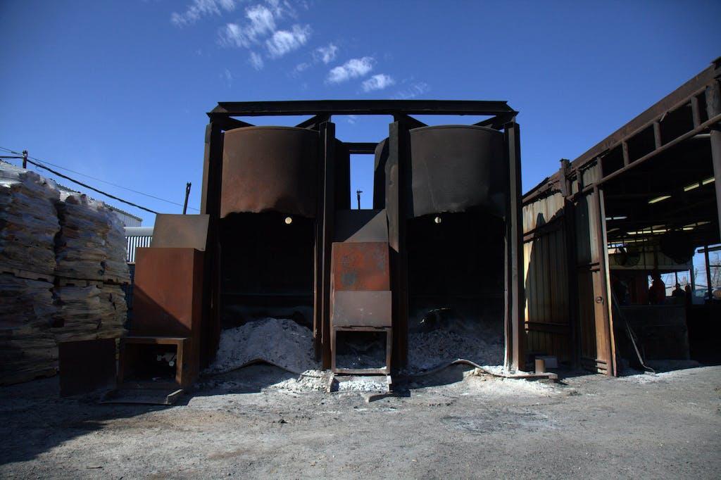 Grilling Coopers burn barrel