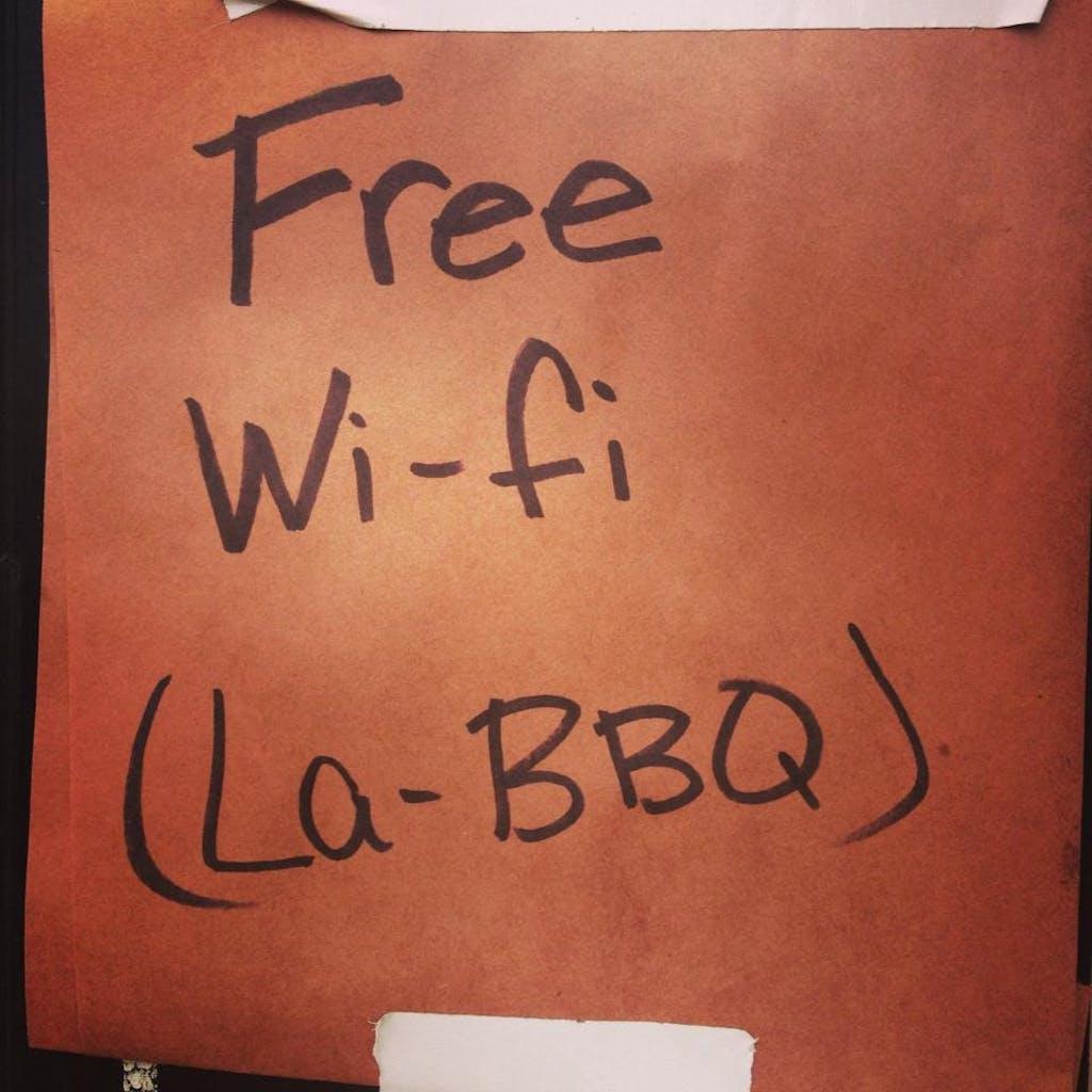 lagniappe la barbecue wi-fi