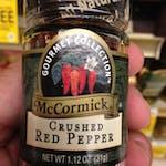 Rub crushed pepper
