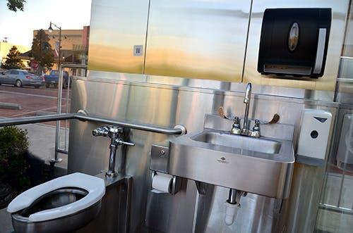 Sulphur Springs S Glass Walled Public, 2 Way Mirror Bathroom New York
