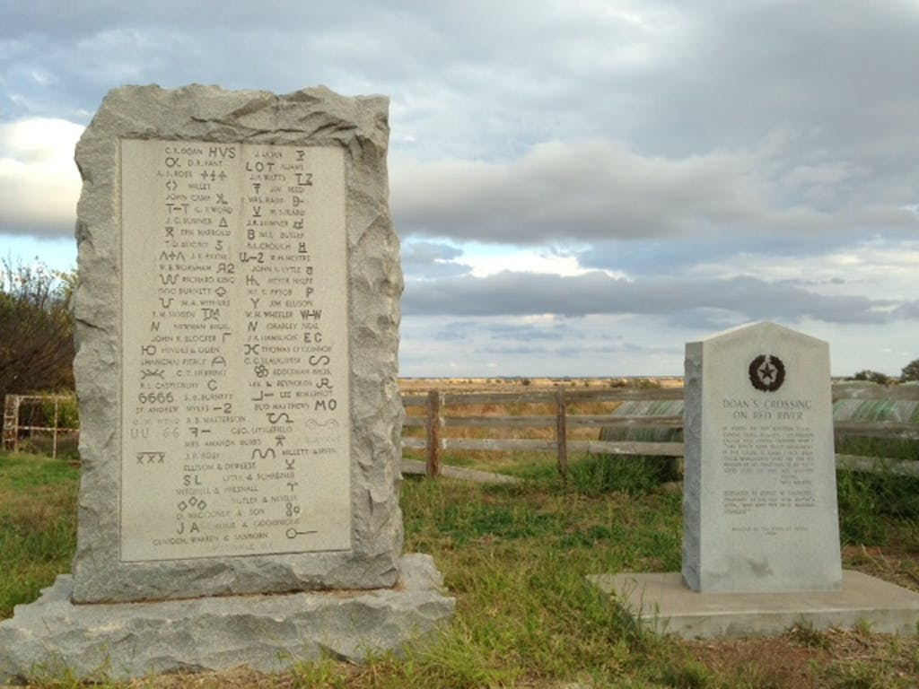 Doan's Crossing monument