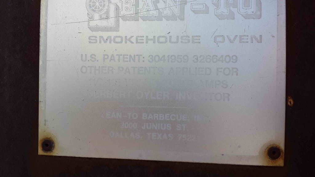JR Manufacturing lean-to bbq stamp