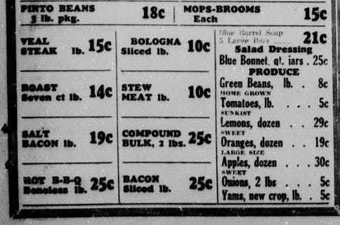 Newspaper advert for BBQ