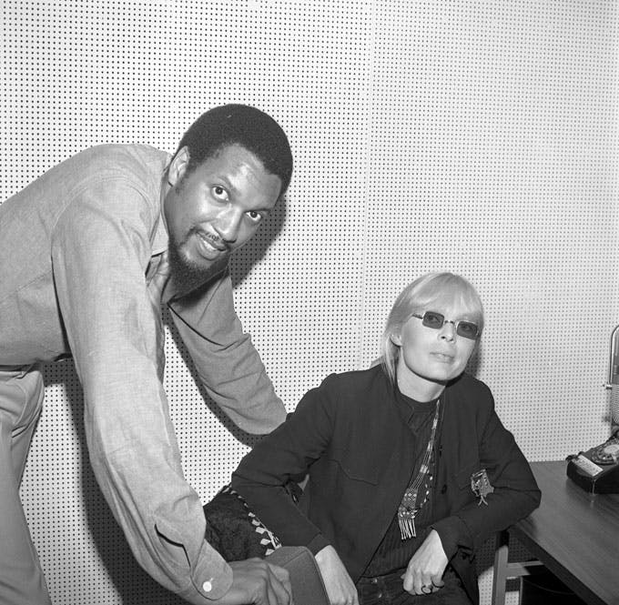 Wilson with Nico, who was promoting her album Chelsea Girl, which Wilson produced, on June 21, 1967, in New York.