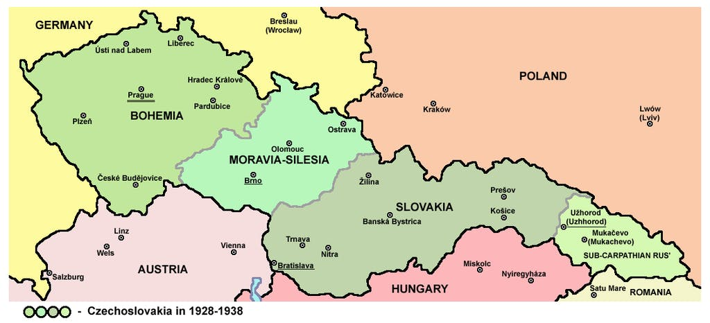 Czechoslovakia Map