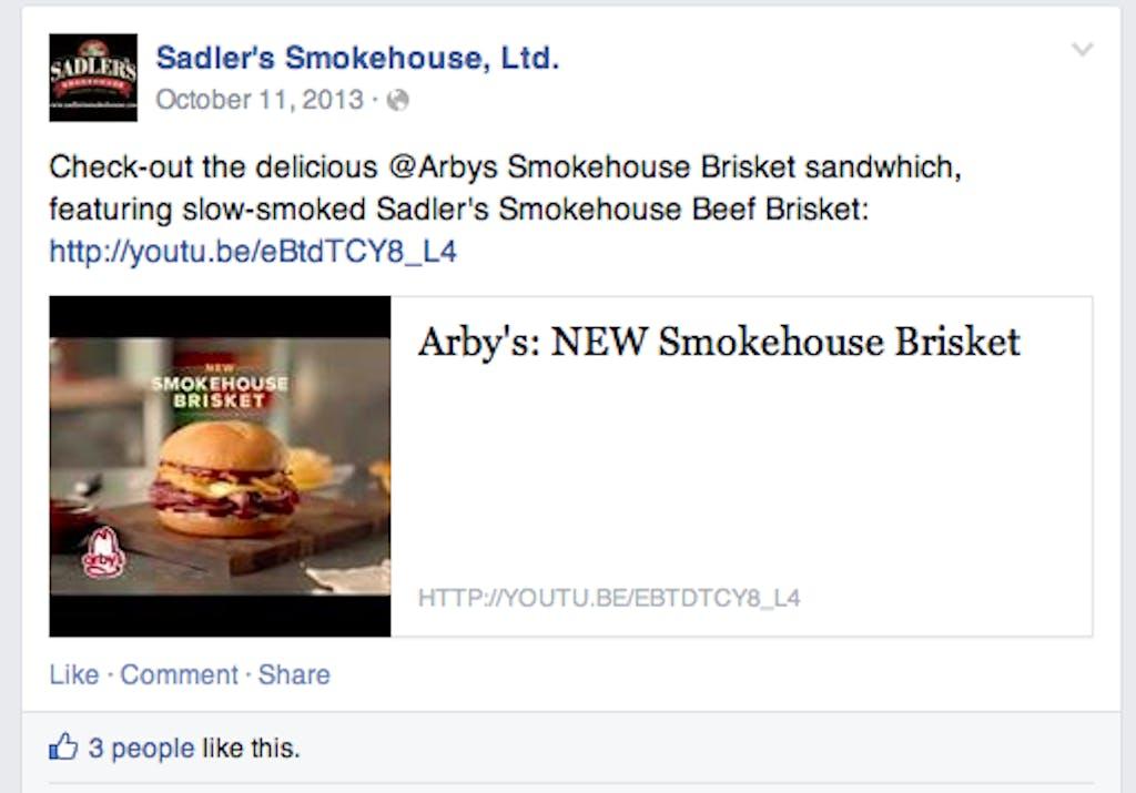 Sadler's Facebook