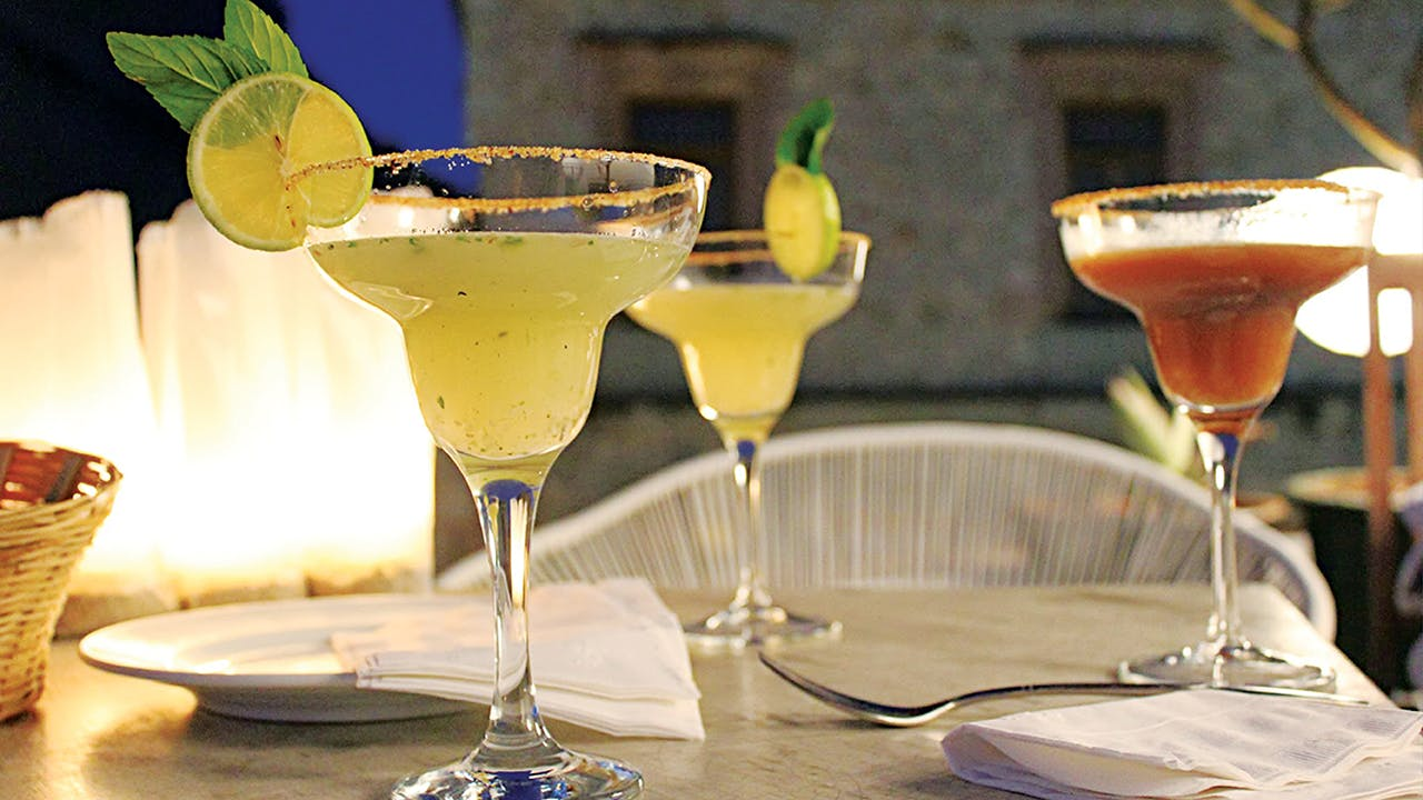 """A """"mezcalini"""" at Casa Oaxaca El Restaurante."""