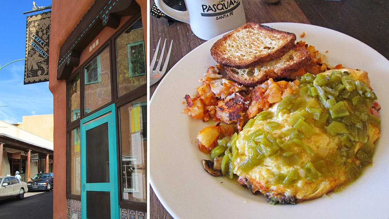 Café Pasqual's, a local institution, has been serving organic comfort food for more than three decades.