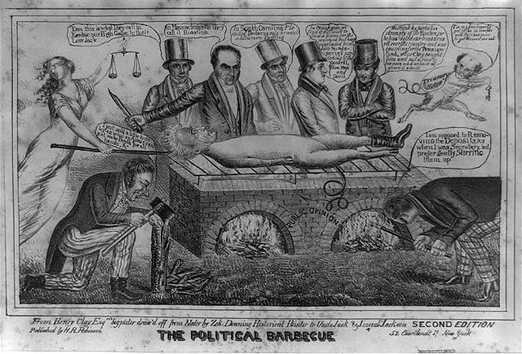 Andrew Jackson BBQ cartoon