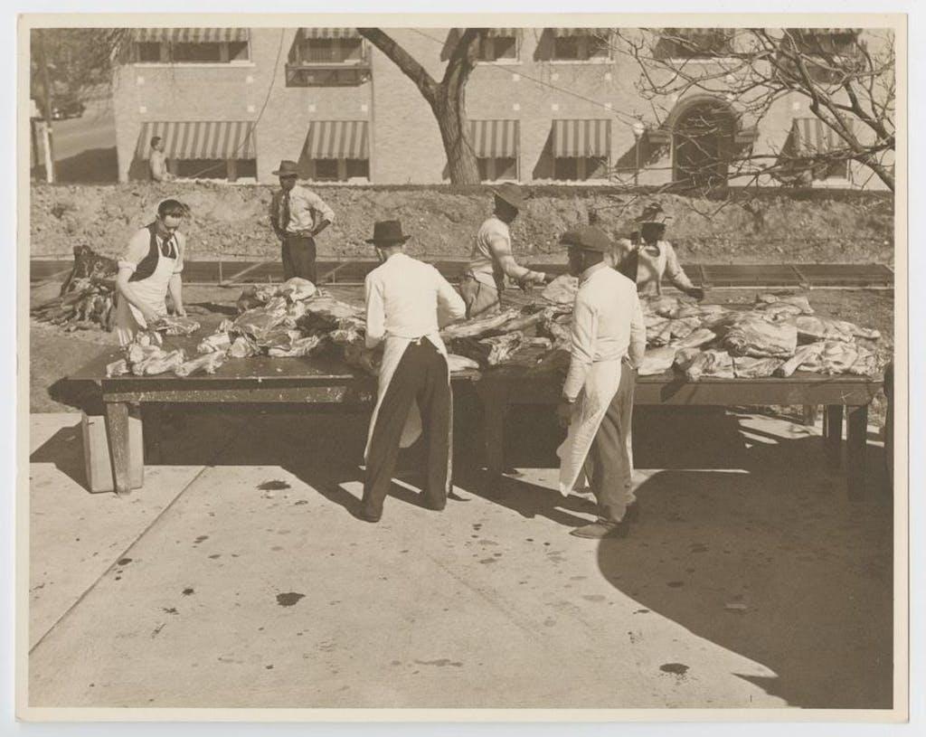 Pappy O'Daniel BBQ 1941 meat