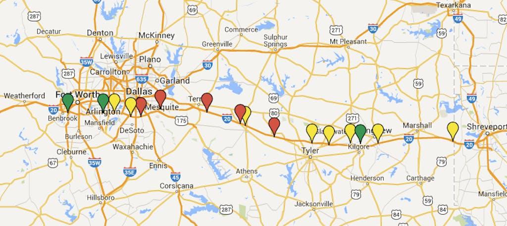 I20 BBQ Map East