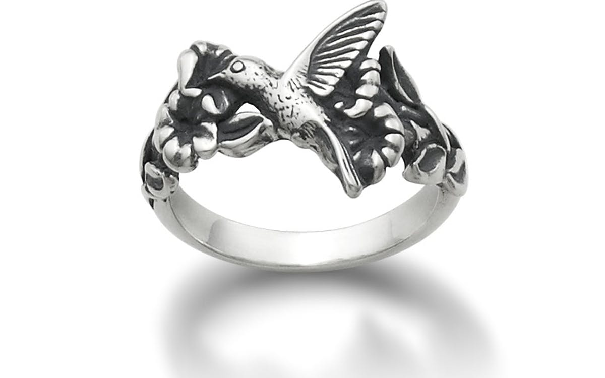 Hummingbird And Flower Ring Texas Monthly
