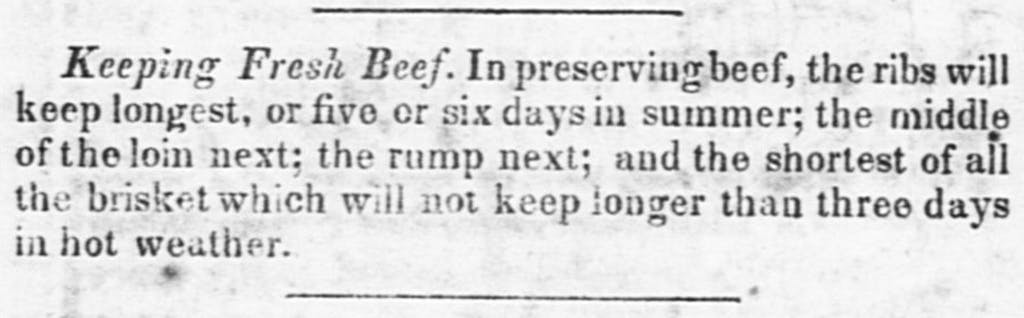 Keeping Fresh Beef 1848