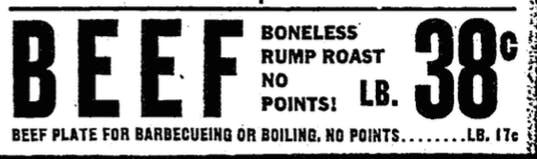 1944 DMN Beef PLate Ad