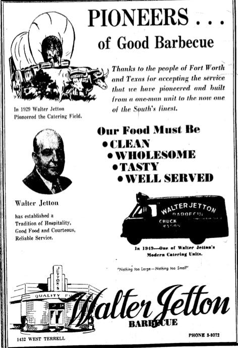 Walter Jetton Ad 1949